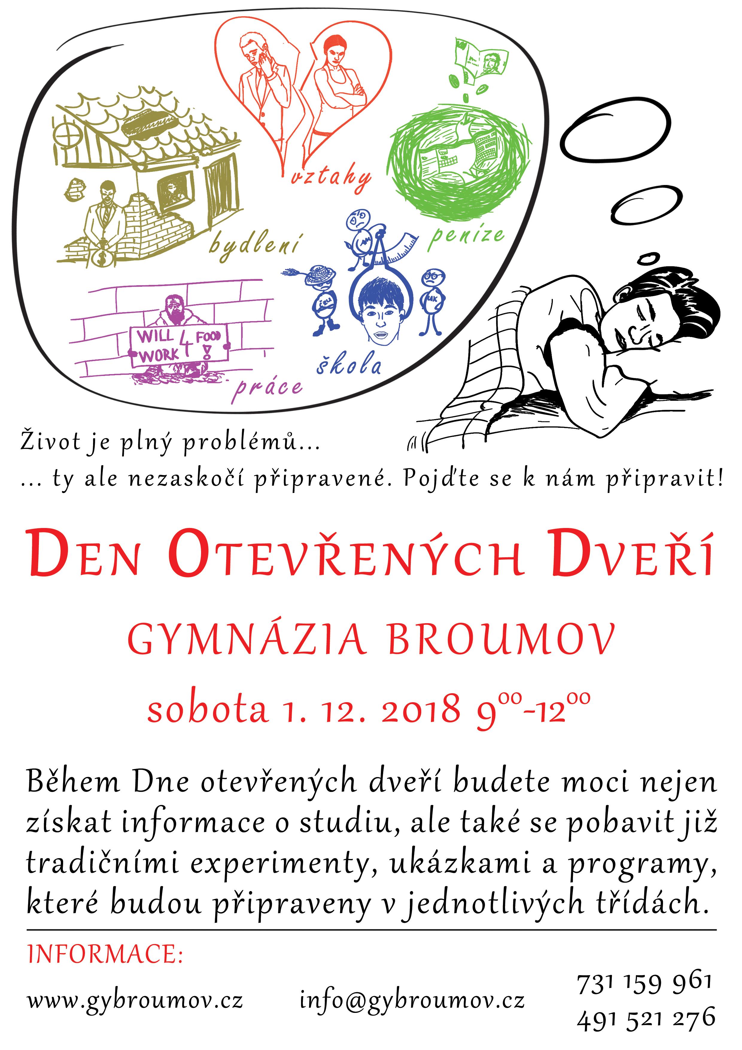 Den otevřených dveří Gymnázia Broumov – 1.12.2008